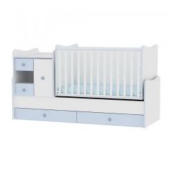 Легло MiniMAX бяло и синьо