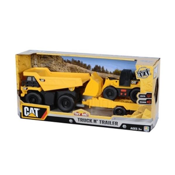 Той стейт Катерпилар Строителен камион с малка машина