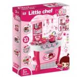 Детска кухня с тенджери Little Chef розова