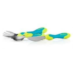 Nuby Комплект вилица, лъжица и нож