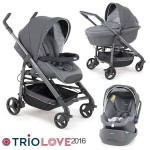 Количка TRIO LOVE silver