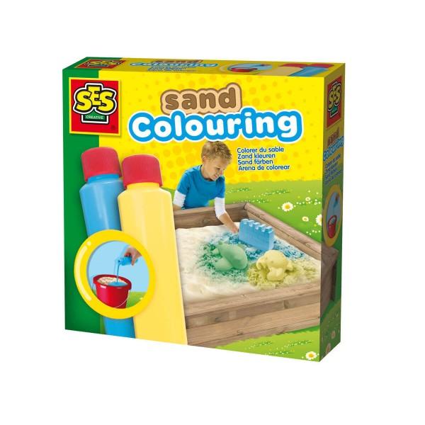 Сес Боя за оцветяване на пясък синя и жълта