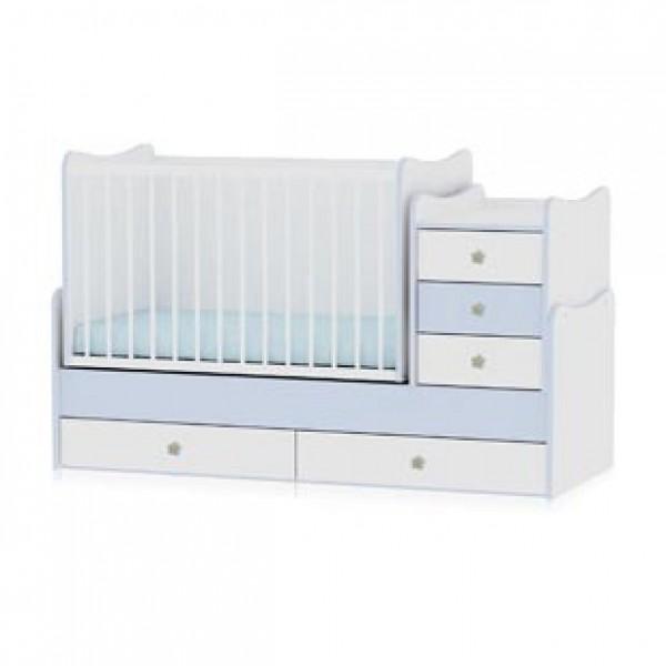 Легло Maxi Plus бяло и синьо