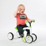 Quadie играчка за яздене зелена