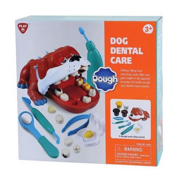 PlayGo Пластелин Куче зъболекар