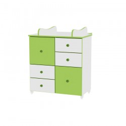 Шкаф бяло и зелено