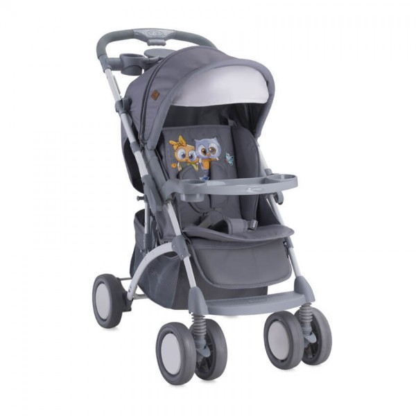 Детска количка Apollo сет Grey Baby Owls