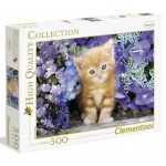 Clementoni 500ч. Пъзел Ginger cat in flowers