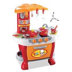 Детска кухня с тенджери Little Chef червена
