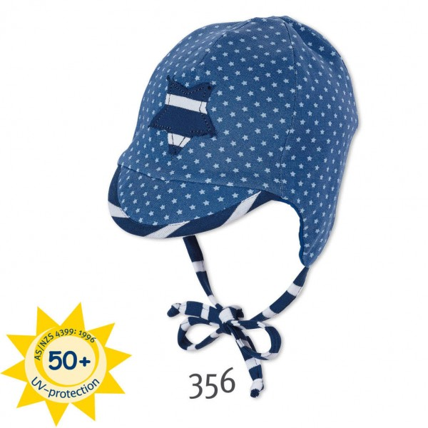 Бебешка шапка с трико с UV 50+ защита