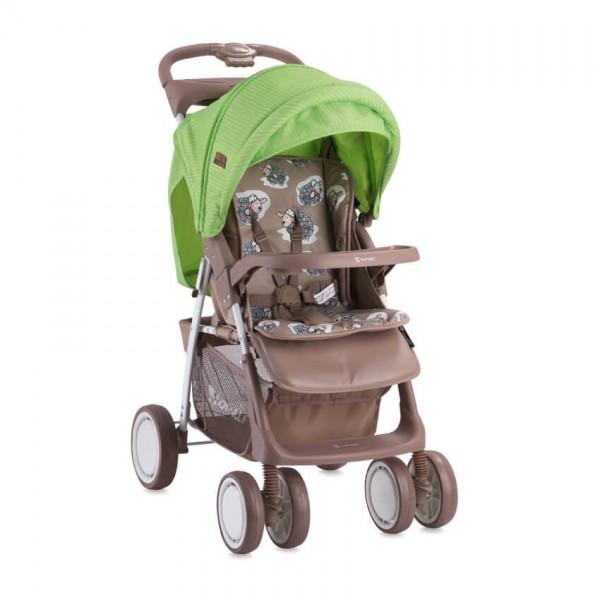 Бебешка количка Foxy Beige&Green Lambs