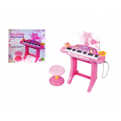 Пиано със стол розово