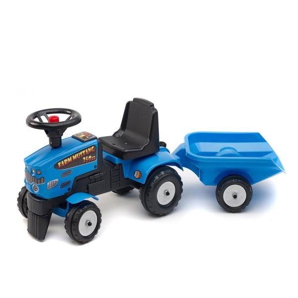 Фалк Трактор с ремарке син