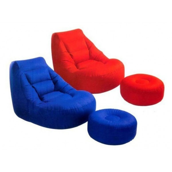 Комплект ергономичен фотьойл и табуретка