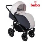 Бебешка количка Buba City 3в1 сиво/бяло