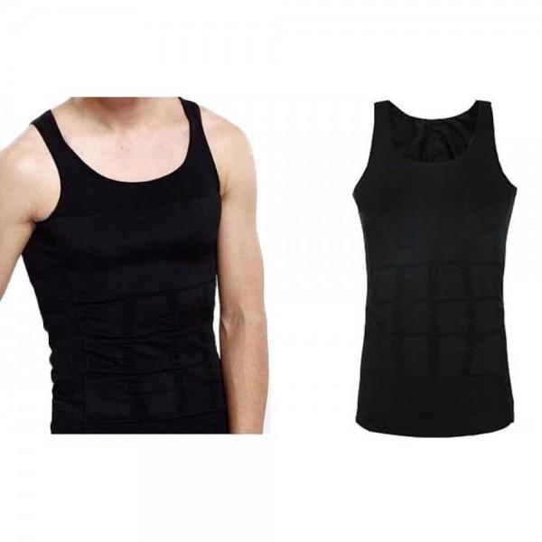 Мъжка тениска за отслабване XXL черна