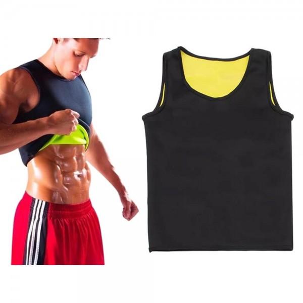 Неопренова тениска за отслабване XXXL черна