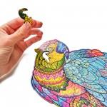 Wood Trick 3D Пъзел Bright Parrot