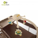 KinderKraft Бебешка кошара Joy full с аксесоари бежова