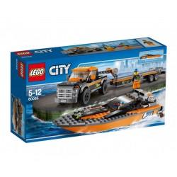 Лего Сити 4x4 и моторница
