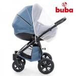 Buba Royal бебешка количка 3в1 син лен