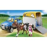 Playmobil Джип с ремарке за коне
