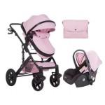 Kikkaboo Бебешка количка Darling Pink Black Ribbon