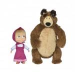 Simba Сет голяма кукла Маша и плюшен мечок