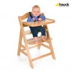 Дървен стол за хранене Gamma + Natur