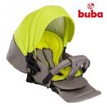 Бебешка количка Buba City 3в1 сиво/зелено