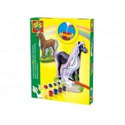Сес Отливки коне с цветни гриви