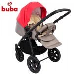 Бебешка количка Buba City 3в1 сиво/корал