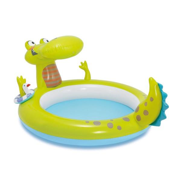 Интекс Детски надуваем басейн с пръскалка Крокодил