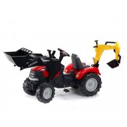 Фалк Трактор с преден и заден товарач