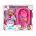LT Пишкаща кукла Le Petit Bebe с корито, шише и гърне