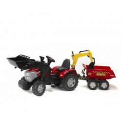 Фалк Трактор с преден и заден товарач и ремарке МакКормик