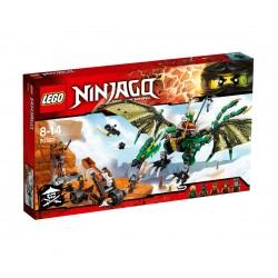 Лего Нинджаго Зелен NRG дракон