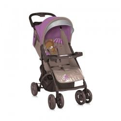 Детска количка Smarty Beige&Violet Bear с покривало