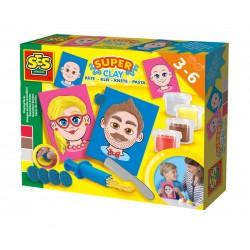 Сес Комплект с пластелин - лица