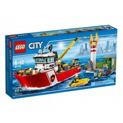 Лего сити пожарникарска лодка