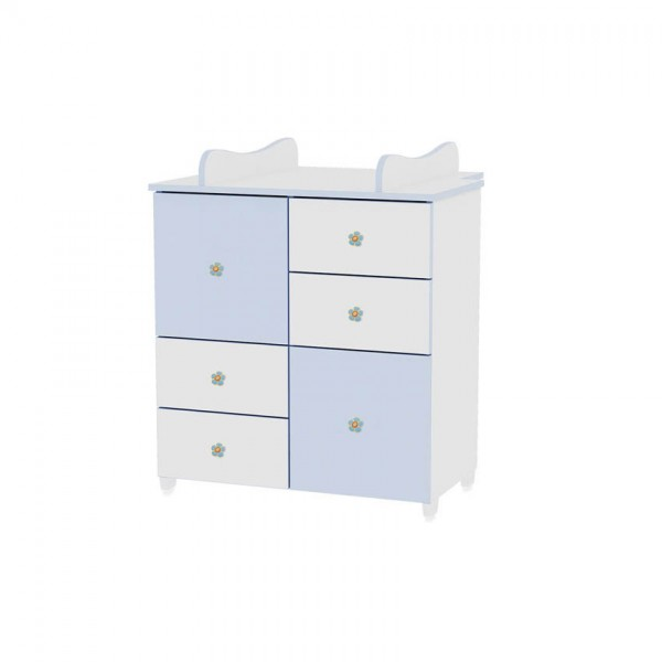 Шкаф бяло и синьо