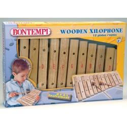 Дървен ксилофон с 12 ноти