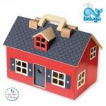Beluga сгъваема дървена къща за кукли