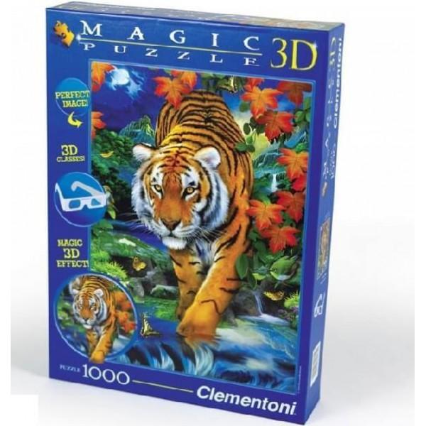 Clementoni 1000ч. Пъзел 3D Тигър