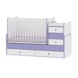 Легло Maxi Plus бяло и виолетово