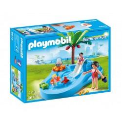 Плеймобил бебешки басейн с пързалка