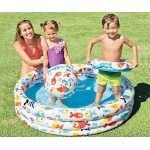 Intex Надуваем комплект детски басейн, топка и пояс Рибки