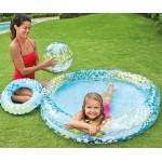 Intex Надуваем комплект детски басейн, топка и пояс Звезди