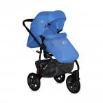 Бебешка количка Monza 3 Blue с въздушни гуми