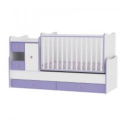 Легло MiniMAX бяло и виолетово